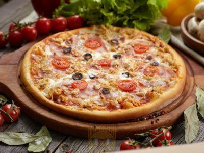 """Пицца """"Ассорти"""" от Big Benny. Полный вид"""