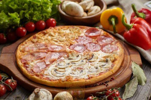 """Пицца """"4 сезона"""" от Big Benny. Полный вид"""